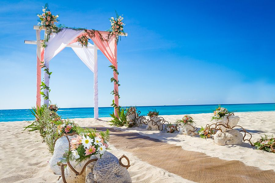 Diy Beach Themed Wedding Arches Private Islands For Cousine Island Seyces Indian Ocean Africa Simple