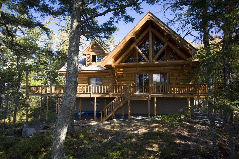 privatinsel mieten log house at johns back lake nova scotia kanada ost zentral. Black Bedroom Furniture Sets. Home Design Ideas