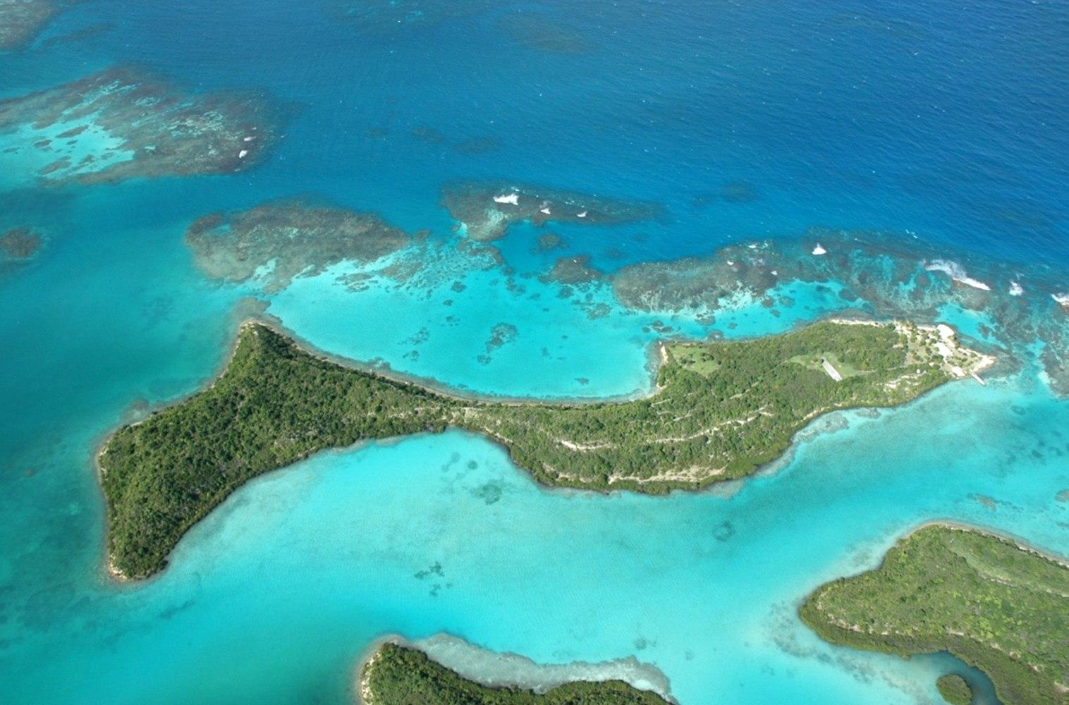 Island Archive Pelican Island Antigua Caribbean