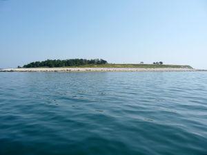 Insel vor dem Hausbau